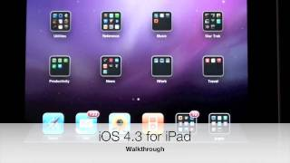Download iOS 4.3 update for iPad: Walkthrough Video