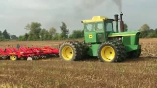 Download John Deere 6030 and 7020 Tractors Chisel Plowing Today in Charlotte Michigan Video
