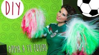 Download DIY: Como hacer pompones para apoyar a tu equipo // How to make cheerleader pom poms Video