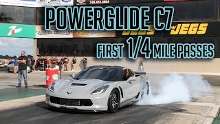 Download Worlds FIRST Powerglide C7 runs 8's first time out! Video