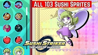 Download Sushi Striker: The Way of Sushido [Switch] Showcased ALL 103 Sushi Sprites Video