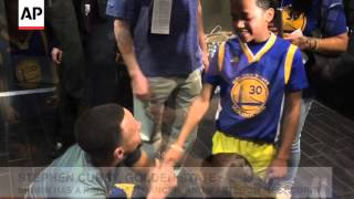 Download RAW VIDEO: NBA MVP Stephen Curry Gives His Shoes To Cancer-Stricken 4-Year-Old Video