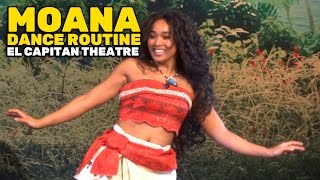 Download ″Moana″ character Polynesian-inspired dance routine on opening day at El Capitan Theatre Video
