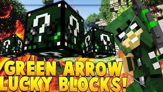 Download GREEN ARROW SUPERHERO LUCKY BLOCK MOD CHALLENGE (SUPERMAN METROPOLIS) | Minecraft - Lucky Block Mod Video