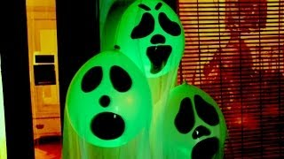 Download DIY Halloween Ghost Glow Balloons - Yard Decorations! Indoor Halloween Decorations 2017 Video