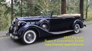 Download Test Drive: 1937 Packard Super 8 Convertible Sedan. Charvet Classic Cars Video