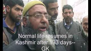 Download Normal life resumes in Kashmir after 133 days Video