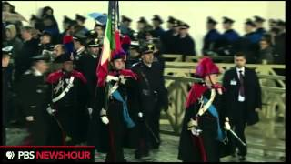 Download Watch the Swiss Guard March Into Vatican City in Preparation of New Pope's Announcement Video