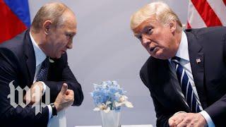 Download Trump meets with Russian President Vladimir Putin Video