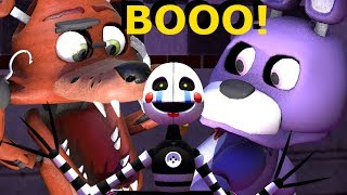Download FNAF Baby Foxy and the baby animatronics react to a Jack in the box - FNAF SFM animation Video
