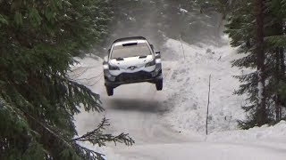 Download Ott Tänak on the snow with toyota yaris wrc Video