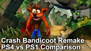 Download Crash Bandicoot PS4 Remake vs PS1 Graphics Comparison Video