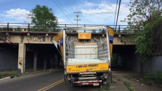 Download Drove Penske truck under bridge and destroyed it! Video