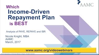 Download FIRST Friday Webinar: Which Income Driven Repayment Plan is Best IBR, PAYE, or REPAYE Video