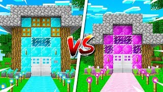 Download BOY vs GIRL MINECRAFT HOUSE BATTLE! (MCPE) Video