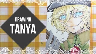 Download Drawing and Coloring Tanya from Youjo Senki ( 幼女戦記) Video