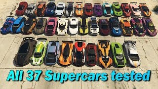 Download GTA V Online Which is fastest of all supercars | Top Speed Part-2 Video