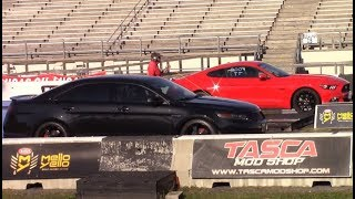 Download Taurus SHO vs Mustangs, Turbo Dodge Ram etc. + New Best: 12.06 at 115 MPH Video