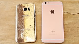 Download Samsung Galaxy S7 Edge vs iPhone 6S Plus Drop Test! Video