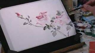 Download How to Draw Roses on Rice Paper in Watercolor Video