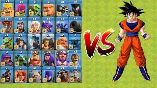 Download Who Can Survive? COC All Troops VS GOKU | Clash Of Clans | New Troops 2018 Video
