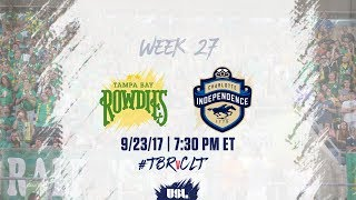 Download USL LIVE - Tampa Bay Rowdies vs Charlotte Independence 9/23/17 Video