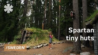 Download Tiny huts to enjoy the basics in Swedish spartan rural lodge Video