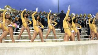 Download Southern University Dancing Dolls vs ASU Stingettes ″FULL GAME HIGHLIGHTS″ 2015 Video