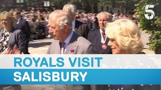 Download Duke and Duchess of Cornwall make Salisbury visit three months after Russian spy poisoning - 5 News Video