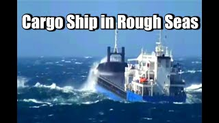 Download Small Cargo ship in rough seas off coast of Italy Video