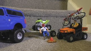 Download TOY CARS OFF ROAD ATV Dirt Bike ACTION Video Kids FUN! ZOMBIES!!! Video