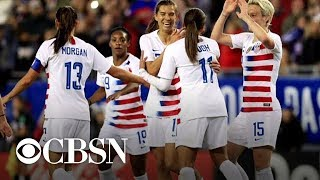 Download U.S. women's national soccer team players sue for equal pay Video