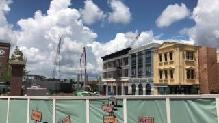 Download Star Wars Land Rises, Streets of America Painting - 6/16/17 - Hollywood Studios Expansion Update #23 Video