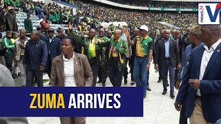Download WATCH: President Jacob Zuma arrives at ANC birthday celebration to loud cheers Video