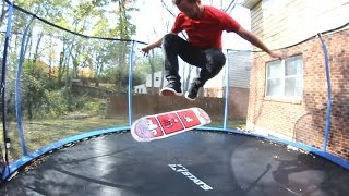 Download TRAMPOLINE GAME OF S.K.A.T.E. ! Andy Schrock VS Sam Tabor Video