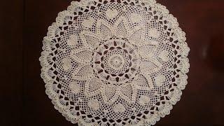 Download Crochet Doily - Romantic Pineapple Doily Part 5 Video