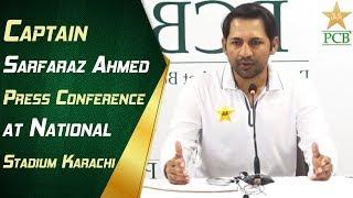 Download Live - Captain Sarfaraz Ahmed Press Conference at National Stadium Karachi   PCB Video