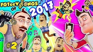 Download HELLO NEIGHBOR SONGS of 2017! GLITCH REMOTE! (FGTEEV Youtube Rewind Music Video Game Compilation) Video