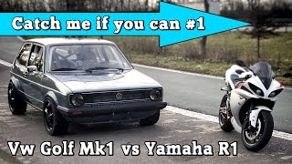 Download VW Golf Mk1 1056HP vs Yamaha R1 182HP street race Full Version CMIYC#1 Video