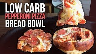 Download Healthy Pepperoni Pizza Bread Bowl Recipe Tutorial Video
