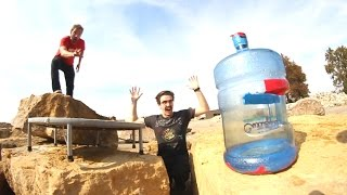 Download Ultimate GIANT Bottle Flipping Trick Shots 2! Video