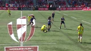 Download Huge tackle in women's sevens in Langford! Video