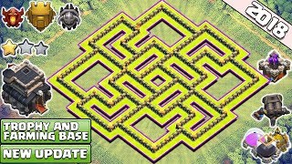 Download CLASH OF CLANS TOWN HALL 9 (TH9) FARMING/TROPHY BASE 2018! TH9 HYBRID BASE ANTI LAVALOON 2018 Video