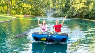 Download TUBING WITH MONSTER IN POND!! Video