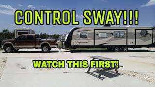 Download Sway when towing an RV? Watch this! Video