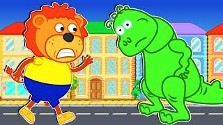 Download Lion Family 🎎 Kids Story about Green Friend | Cartoon for Babies Video