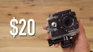 Download $20 4k Action Cam Review - Is it Worth it? | $20 GoPro | 4K Video