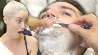 Download Trying a Straight Razor Shave (& Ear Hair Removal?!) at the Barber (Beauty Trippin) Video