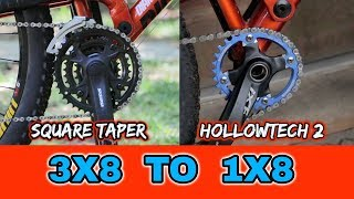 Download 3X8 TO 1X8 MTB CONVERSION 3X TO 1X Video