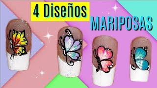 Download ♥ Diseños de uñas de mariposas ♥Butterfly nail designs Video